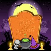Halloween w tle. — Wektor stockowy