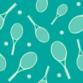Tennis rackets seamless pattern. — Stockvektor
