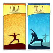Yoga banner collection. — Stockvector