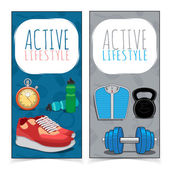 Active lifestyle banners. — Stock Vector