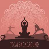 Yoga background. — Stock Vector