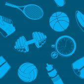 Sport seamless pattern. — Stock Vector