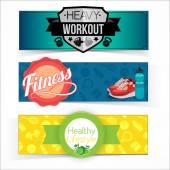 Active lifestyle banners. — Stok Vektör