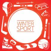 Winter sports background. — Stock Vector