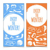 Winter sports banners. — Stock Vector