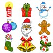 Christmas and New Year objects. — Stock Vector #59515027
