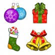 Christmas and New Year objects. — Stock Vector #59514905