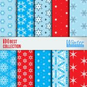 Winter backdrops collection. — Stock Vector