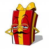 Present box character. — Stok Vektör