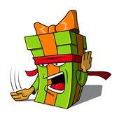 Present box character. — Cтоковый вектор
