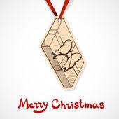 現在のボックスの紙ラベル。クリスマスと新年のデザイン要素 — ストックベクタ