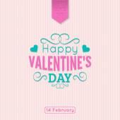 Saint Valentines  Day background. — Stok Vektör