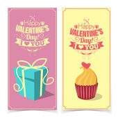 Saint Valentines Day banners. — Stock Vector
