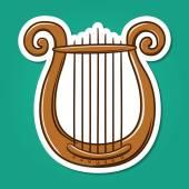 Lire musical instrument. — Stockvector