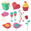Saint Valentines Day objects set. — Stock Vector #63341787