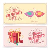 Saint Valentines Day banners. — Vetor de Stock