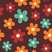 çiçekler seamless modeli. — Stok Vektör