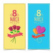 Women Day banners. — Stock Vector