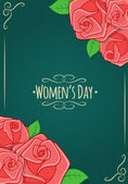 Eight 8 of March, Women Day background. — Stockvektor