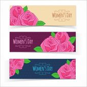 Banners for Women Day. — 图库矢量图片