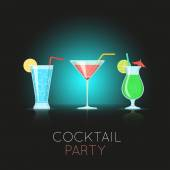 Cocktail glasses. — Stock Vector