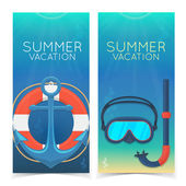 Swimming and diving banners. — Stock Vector