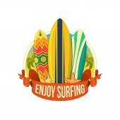 Surfing boards. — Stock Vector