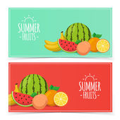 Tropical exotic fruits. — Stock Vector