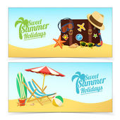 Summer travel banners. — Stock Vector