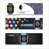 Smart watch banners. — Stock Vector
