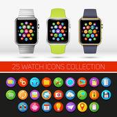 Smart watch variations. — Stock Vector
