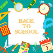 Welcome back to school. — Stock Vector
