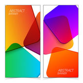 Abstract geometric headers. — Stock Vector