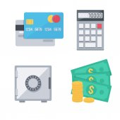 Finance money icons set. — Stock Vector