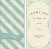 Set of invitation cards on vintage geometric background — Vetorial Stock