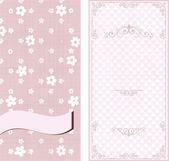 Set of invitation cards on vintage floral background — Stock Vector