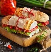 Sandwiches. — Stock Photo