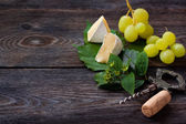 Cheese and grape. — Stock Photo