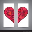 Two vertical Valentine banners, back and front side — Stock Vector #62658511