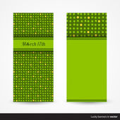 Set of green St. Patrick's Day cards — Stock Vector