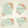 Collection of romantic vintage banners — Stock Vector #63754637
