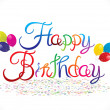Abstract happy birthday background — Stock Vector #52340707