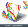 Abstract colorful laptop sticker — Stock Vector #60440971
