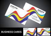 Abstract colorful business card template — Stock Vector