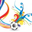 Abstract artistic colorful football explode — Stock Vector #71316029