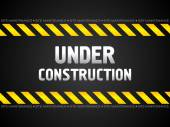 Abstract black under construction background — Vettoriale Stock