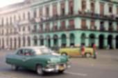 Blured Image  of a Street in Havana, Cuba — Stock Photo