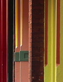 Colors Lines Old Storefronts Urban Buildings — Stock Photo