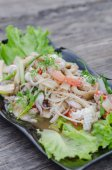 Spicy seafood salad — Stock Photo