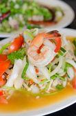 Pikantní krevety salát — Stock fotografie